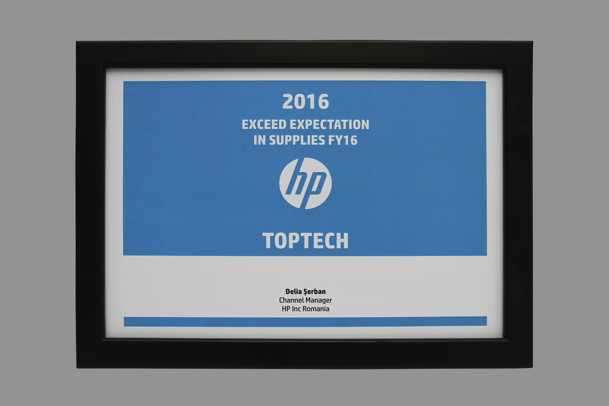 TopTech - HP Exceed Expectation in Supplies FY16